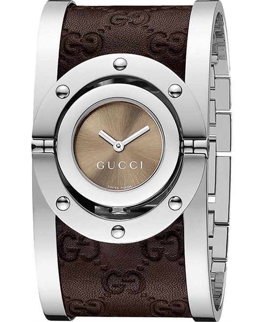 GUCCI Twirl Brown Dial Ladies Watch 33mm