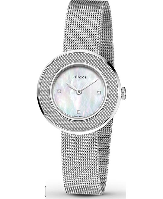 Gucci U-Play  Diamond Mother of Pearl Ladies Watch 29mm