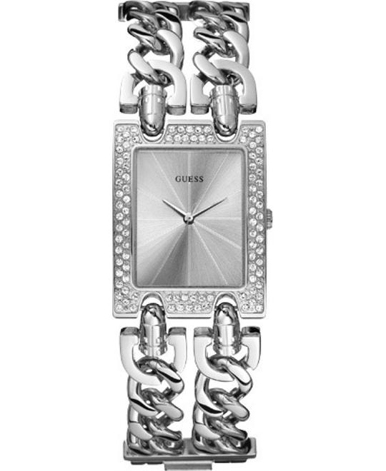 GUESS BRILLIANCE ON LINKS WOMEN'S WATCH 28MM