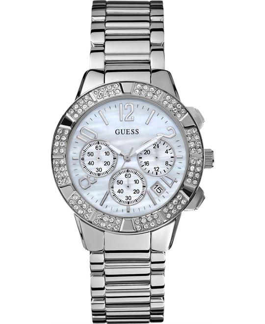 GUESS Montre Crystal Chronograph Watch 40mm