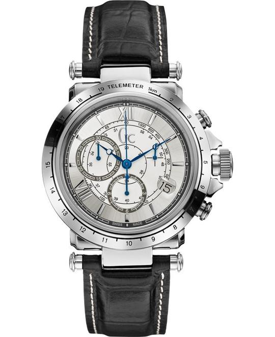 GUESS Gc Leather Chronograph Men's Watch 42mm