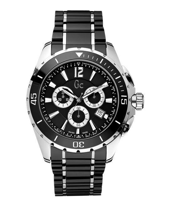 GUESS Gc Swiss Sport Class XXL Black Ceramic Mens, 45mm