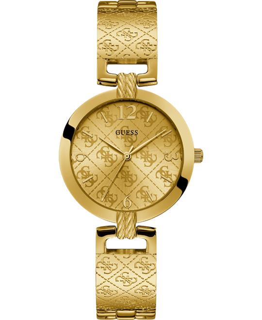 Guess Gold-Tone Analog Watch 35mm