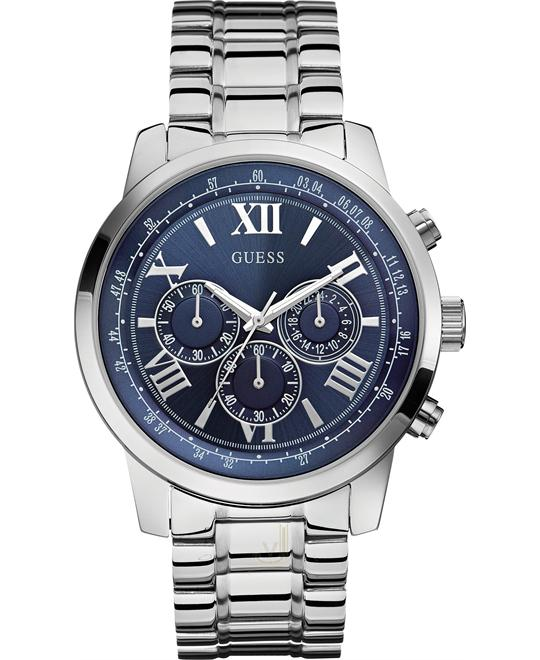 Guess HORIZON Silver Steel Men's Watch 45mm