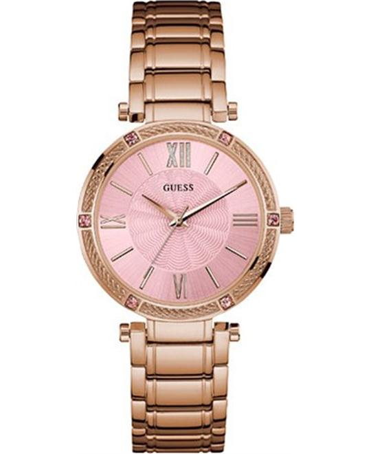 GUESS Jewelry-Inspired Feminine Rose Watch 37mm