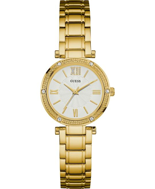 GUESS Jewelry-Inspired Gold-Tone Watch 29.5mm