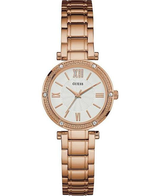 GUESS Jewelry-Inspired Rose Gold Watch 29.5mm