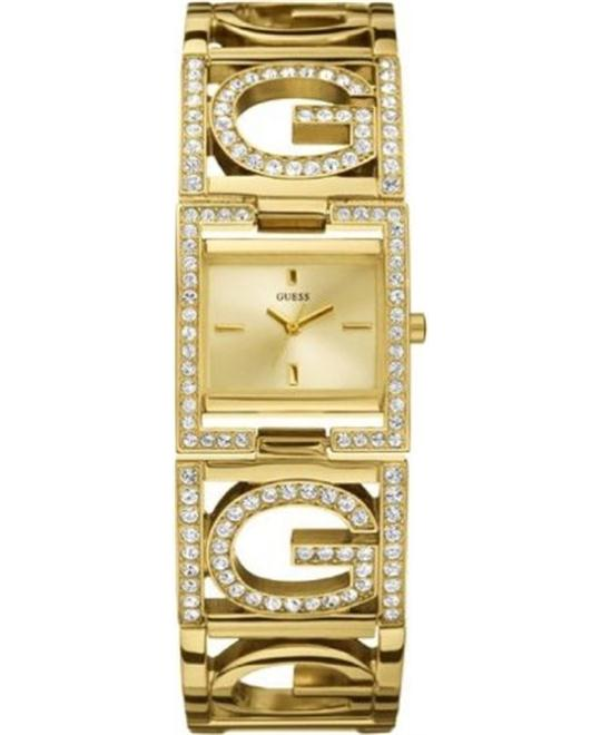 GUESS G LOGO SWAROVSKI CHAIN CUFF LADY WATCH 26x21MM