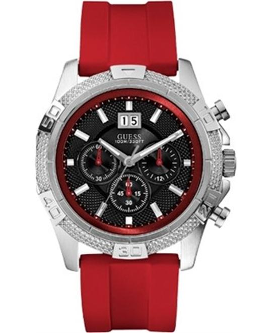 Guess Limited Edition Red Strap Watch 50mm