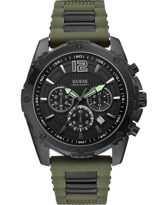 GUESS Chronograph Silicone Men's Watch 47mm