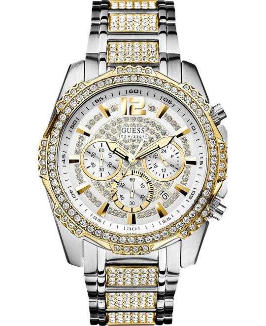 GUESS Glitz Active Sport Crystal Chronograph Watch 47mm