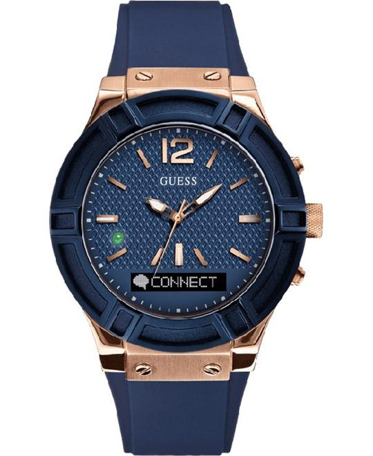 GUESS CONNECT Men's  Blue & Rose Smartwatch 45mm