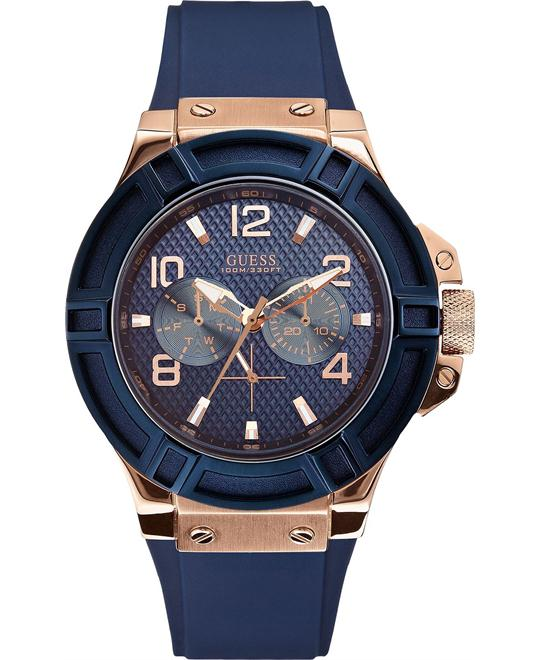 "Guess ""Gunmetal Rigor"" Men's Watch 46mm"