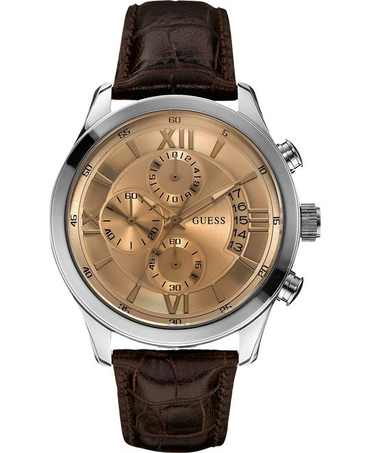 GUESS Classic Crocodile-Grained Watch 45mm