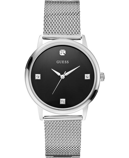 GUESS Slim Round Diamond Watch 40mm