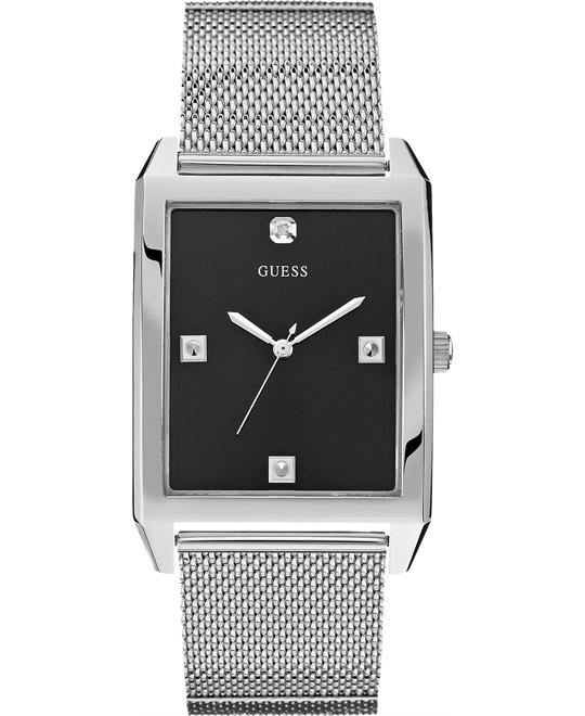 GUESS Dressy Men's Rectangular Diamond Watch 40x35mm