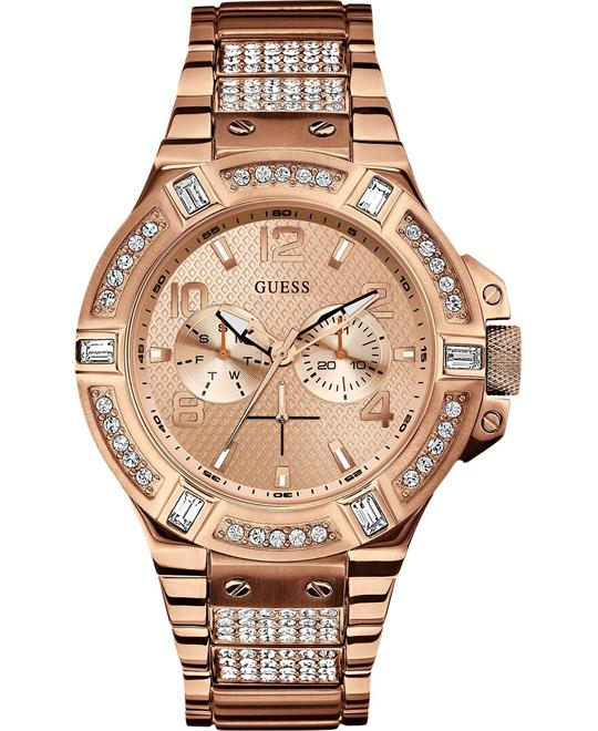GUESS Rigor Multi-Function Glitz Watch 46mm