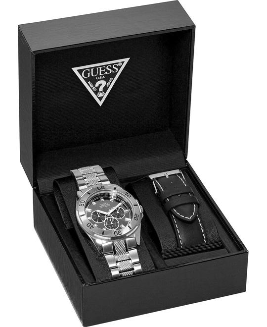 GUESS Waterpro Sport Men's Watch Set 44mm