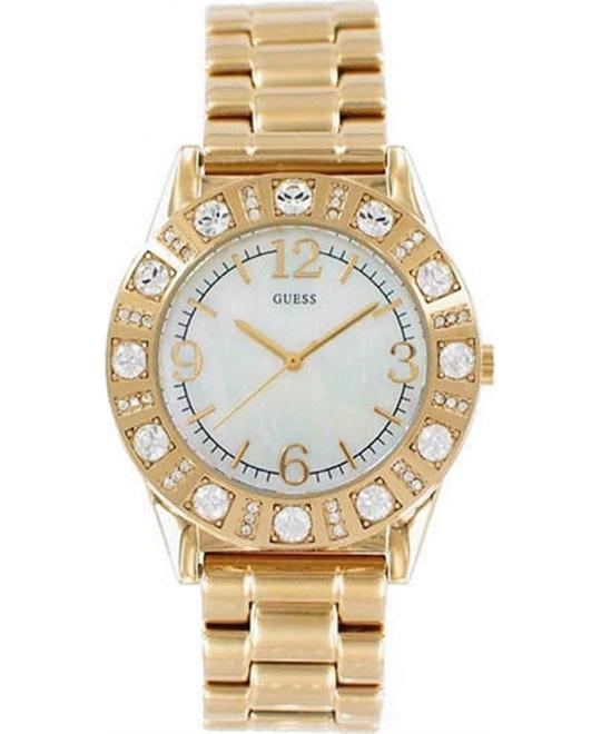 Guess Mother Of Pearl Gold Tone Ladies Watch 36mm