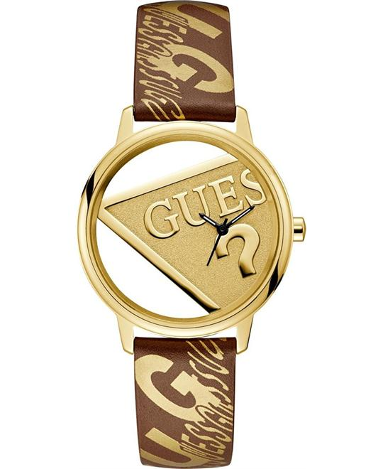 Guess Originals Gold-Tone And Brown Watch 38mm