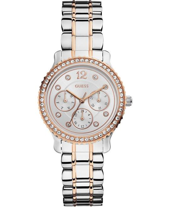 Guess Silver Mineral Women's Watch 34mm