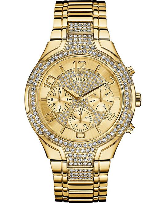 GUESS Sporty Women's Gold-Tone Watch 44mm