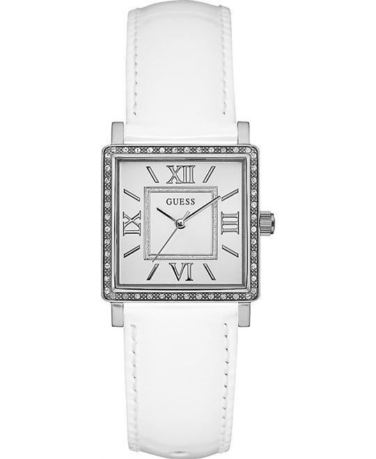 GUESS Timeless Style White and Silver Watch 27mm