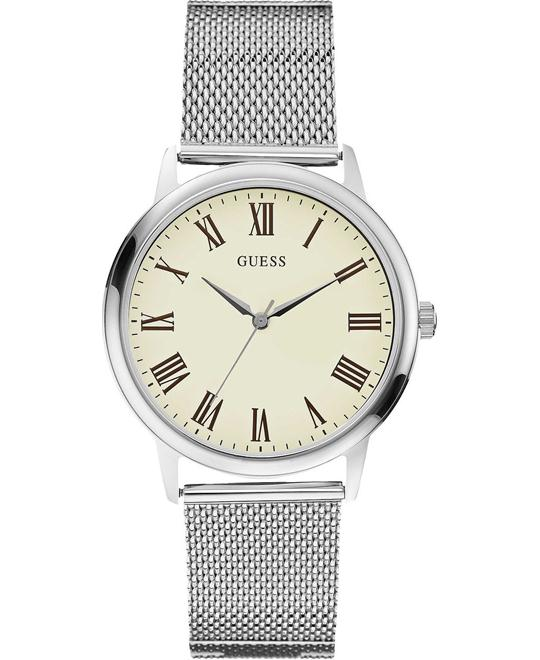GUESS WAFER Steel Bracelet Mesh Beige Watch 40mm