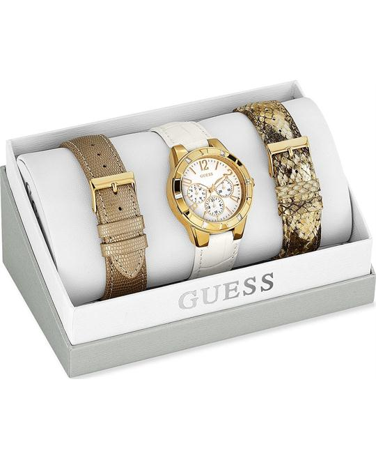GUESS Interchangeable Beige Watch Set 38mm