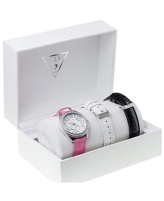 Guess Women's Casual Pink Leather Watch 37mm