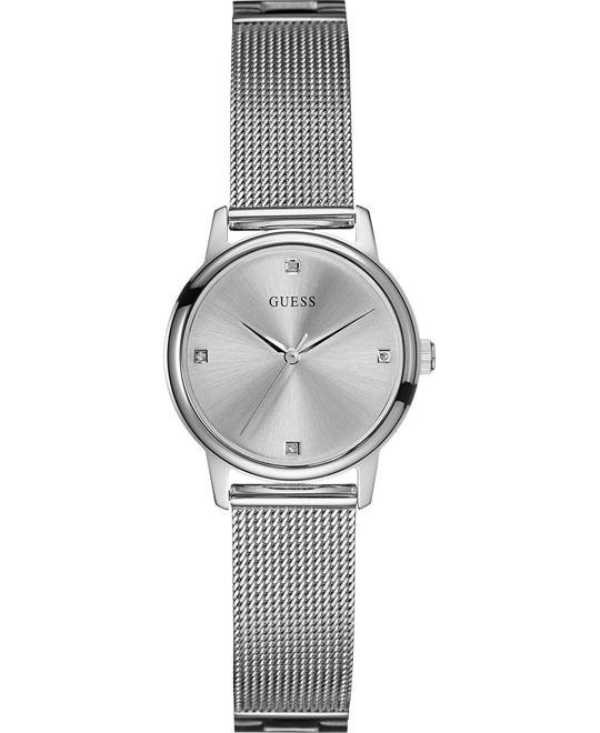 GUESS Slim Round Diamond Watch 28mm