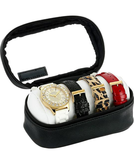 GUESS Women's Gold-Tone Watch Set 40mm
