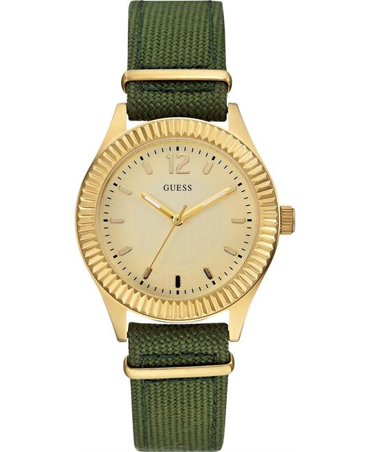 GUESS Green Nylon Women's Watch 36mm