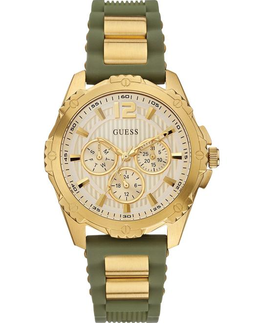 GUESS Olive Green Silicone Women's Watch 42mm