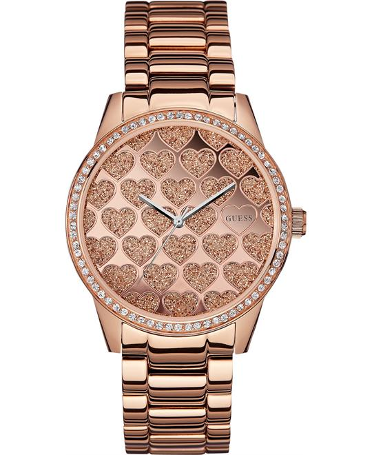 GUESS Women's Rose Gold-Tone Bracelet Watch 40mm