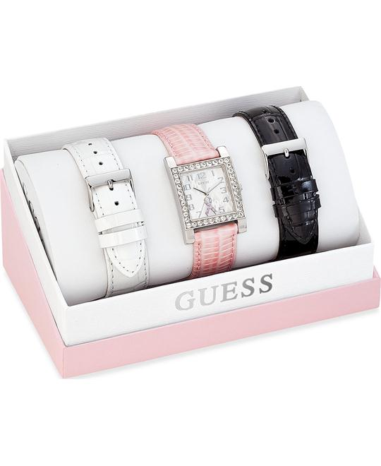 GUESS Sparkling Women's Watch Set 28mm