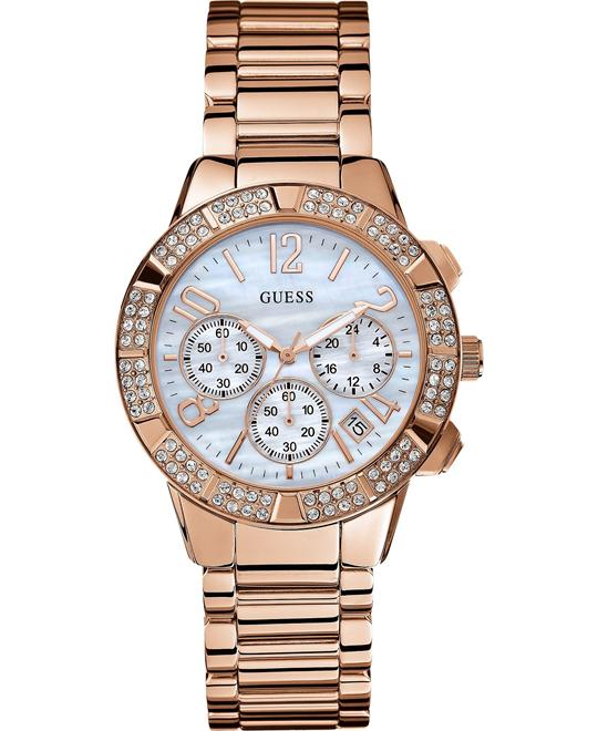 GUESS Montre Crystal Chronograph Watch  41mm