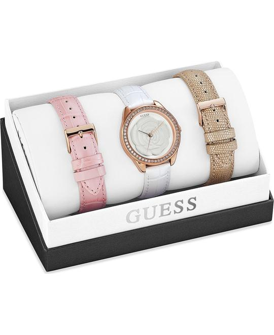 GUESS Interchangeable Swarovski Women's Watch Set 36mm