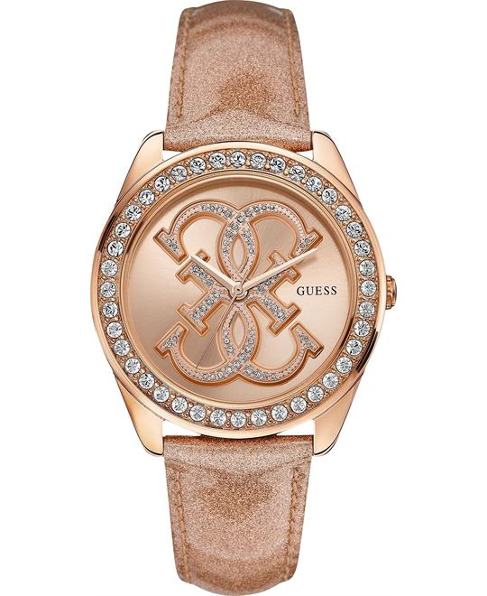 Guess Dazzling Iconic Logo Crystal Womens Watch 41mm