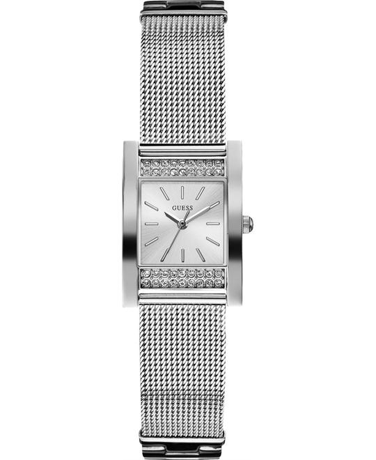 GUESS Timeless Shine Crystal Mesh Watch 23mm