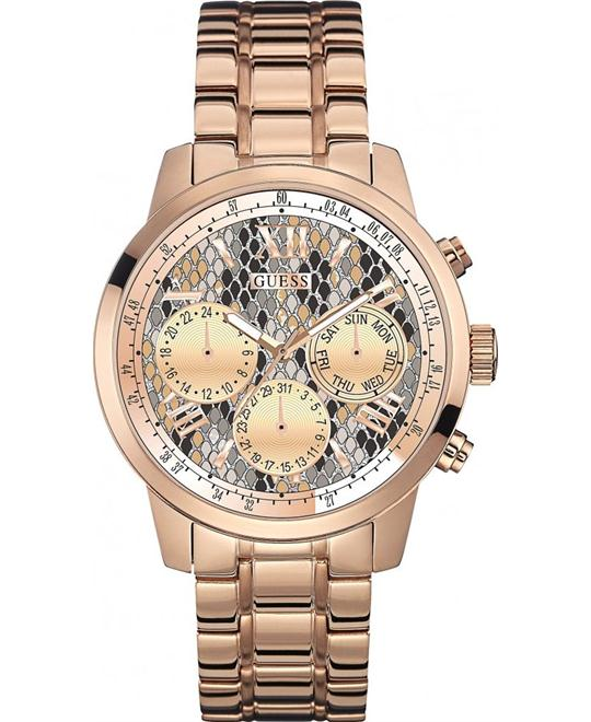 GUESS WOMENS SUNRISE ROSE GOLD PVD PLATED WATCH 42mm