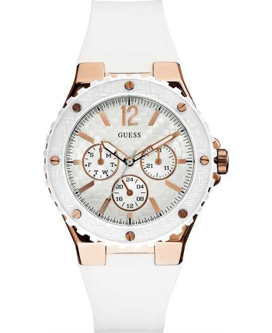 GUESS Women's White Silicone Strap 40mm