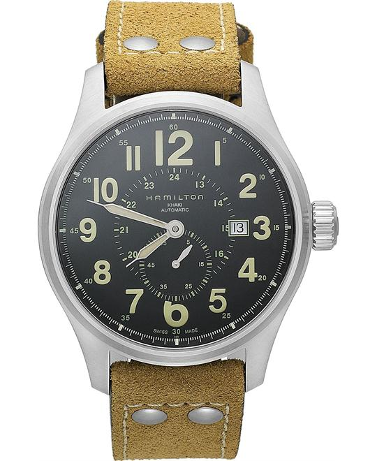 Hamilton Men's Swiss Automatic Leather 44mm
