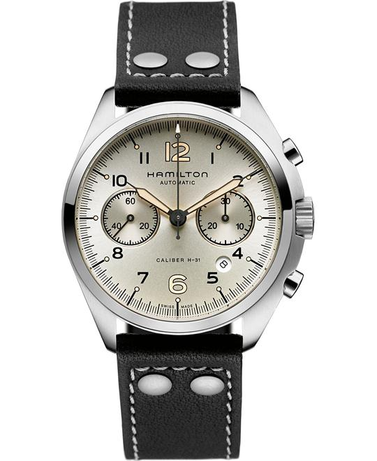 Hamilton Men's Swiss Automatic Black Leather 41mm