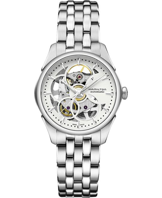 Hamilton JazzMaster Silver Dial Automatic Ladies Watch 36mm
