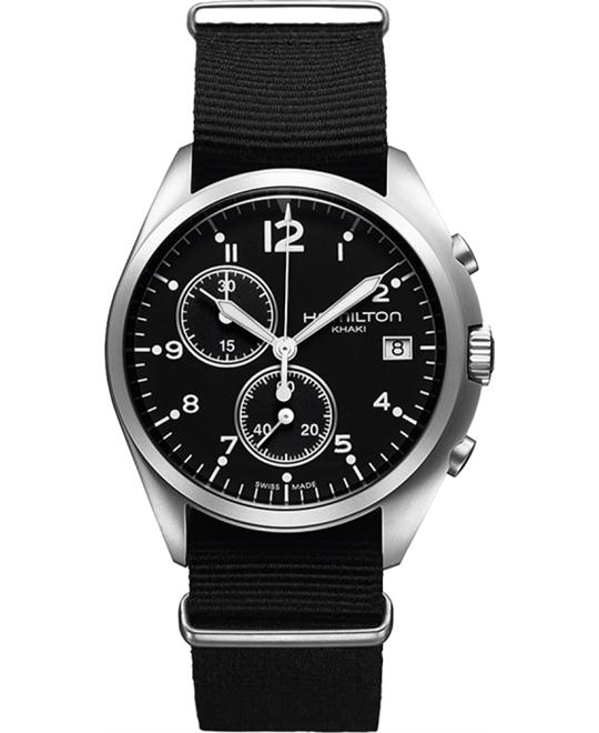 HAMILTON Pilot Pioneer Chronograph Black Watch 41mm