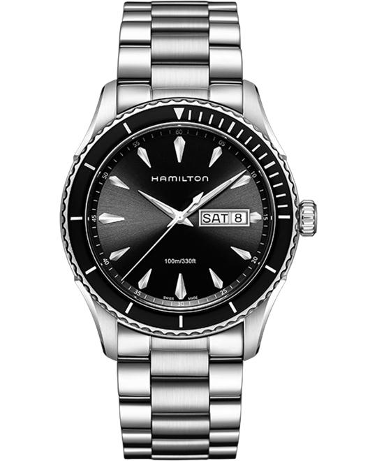 Hamilton Seaview Black Dial Stainless Steel Men's Watch 42mm