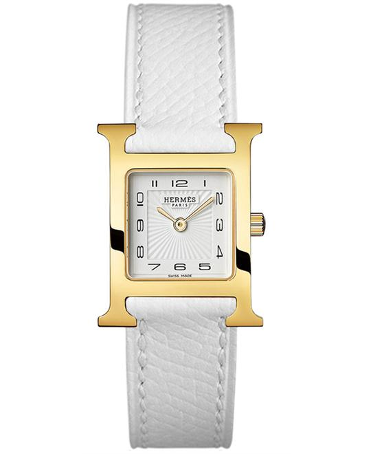 Hermes 036735WW00 Ladies Gold Plated Leather 21mm X 21mm