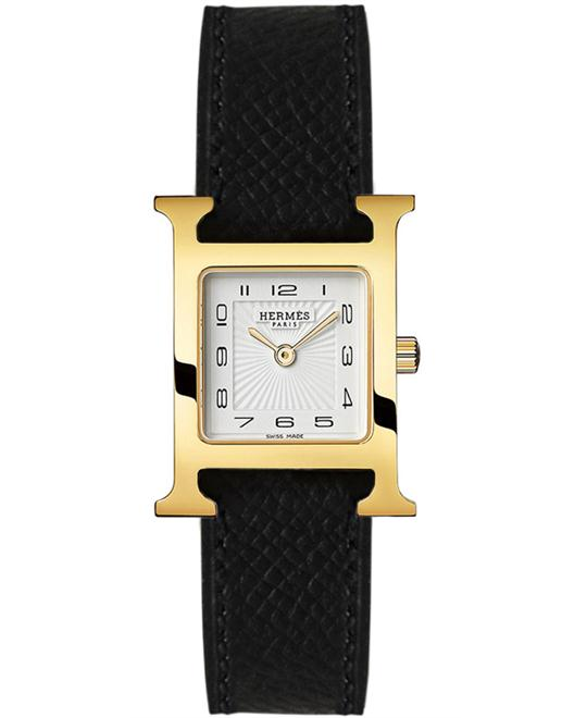Hermes 036733WW00 H Hour Quartz Small PM Watch 21x21mm