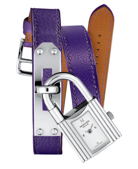 Hermes Ladies Stainless Steel Leather 	20mm X 20mm